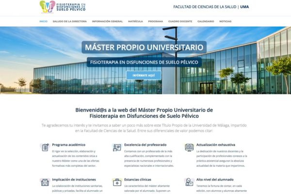Nueva Web Informativa del Máster
